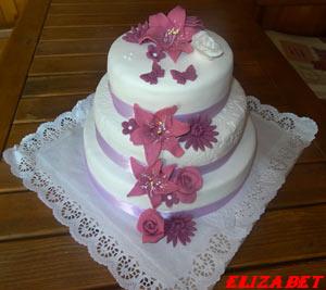 Svadobná   Svadobné torty   Elizabet